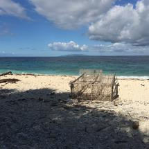 Empty cage at the beach of Balicasag Island in Bohol the Philippines