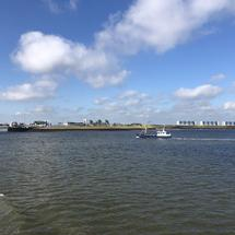Leaving the harbor of Lauwersoog in Friesland, The Netherlands