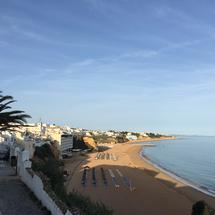 Praia do Túnel in the afternoon in Albufeira Portugal
