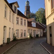 Architecture and the Reformed Church (Große Kirche) in Leer, Germany