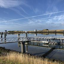 Lorentz Locks in Kornwerderzand, Friesland The Netherlands