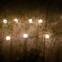 Light at the garden made from Capis