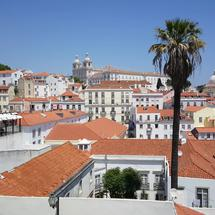 Lisbon city view at Portas do Sol in Portugal