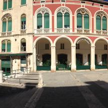 panorama from the Republic square and the Monastery of St. Francis in Split Croatia