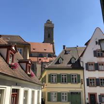Old town of Bamberg with the Obere Pfarre church in the background