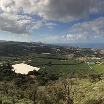Panorama view from mount Arucas in Gran Canaria