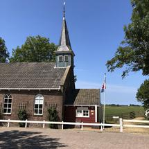 The Frisian Museum Village entrance in Allingawier a terp village in Friesland, The Netherlands