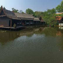 The floating market in Ancient Siam Bangkok Thailand