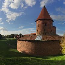 Panorama from the Kaunas castle in Lithuania