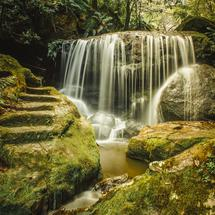 Little waterfall in the Blue Mountains area in Australia.