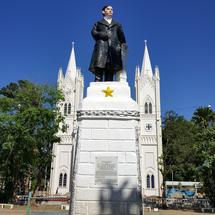 Statue at Plaza Cuartel and the Cathedral, Puerto Princesa