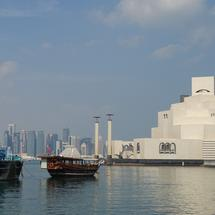 Skyline of Doha in Qatar