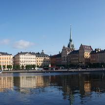 panorama from Gamla stan old town in Stockholm Sweden