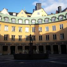 Circle Of Houses In Gamla Stan Old Town Stockholm Sweden