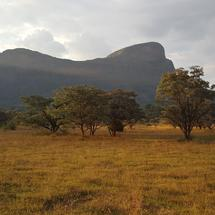 Mountain range from Entabeni Nature Reserve in South Africa