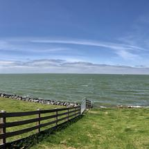 Panorama from a dike in Hindeloopen Friesland
