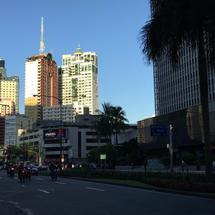 Traffic in Makati the Philippines