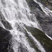 Closeup from waterfall at the Capra Waterfall at the Fagaras mountains in Romania