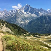 Aiguille Verte in the French Alps.