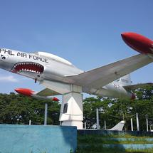 Plane on former US air base in Clark, Philippines