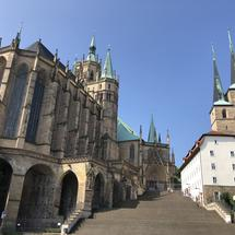 The Erfurt Cathedral and St. Severi church in Erfurt, Germany