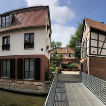 Panorama from a canal in Erfurt, Germany