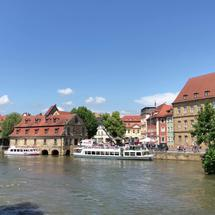 View from the Untere Brücke in Bamberg Germany