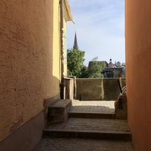 Alley in Regensburg, Germany