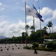 Cathedral of Granada from Cathedral square in Nicaragua
