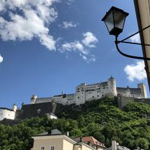 The Fortress Hohensalzburg and the old town of Salzburg, Austria
