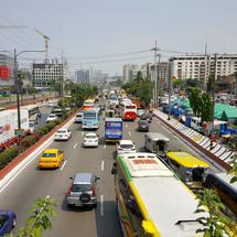 Traffic in the streets of Manila, Philippines