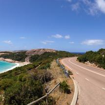 Blue Haven and twilight road Panorama in Esperance Western Australia