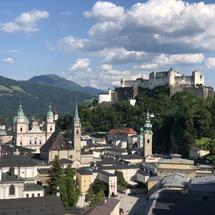 The old town of Salzburg, Austria