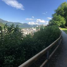 Hiking on the Mönchsberg in Salzburg, Austria