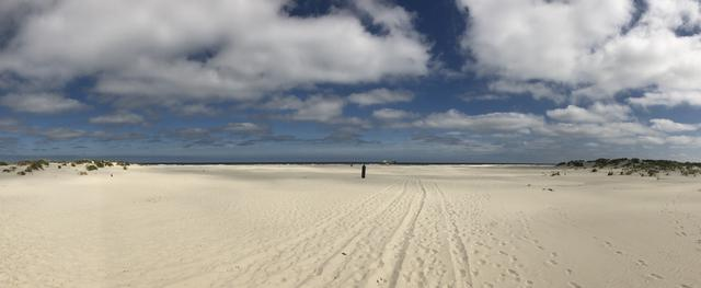 Panorama from the beach on Schiermonnikoog, The Netherlands