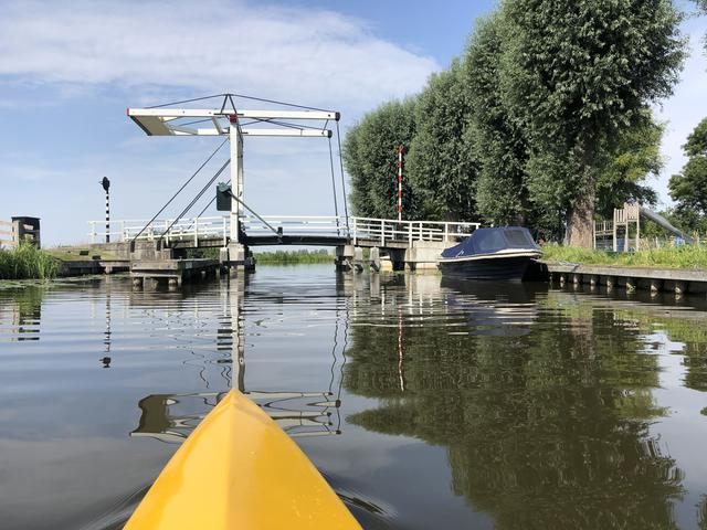 A photo for story Canoeing at the old canal in IJlst