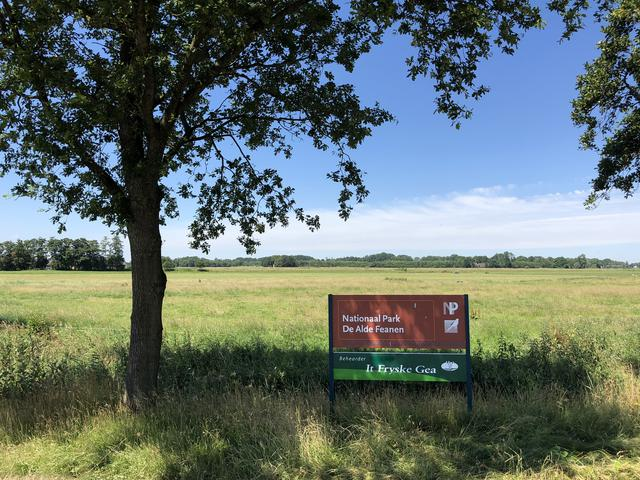 Sign from Alde Feanen National Park in Friesland The Netherlands