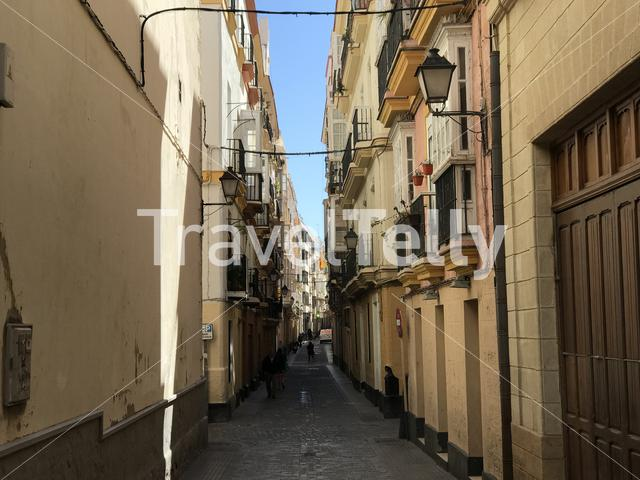 Architecture in the streets of Cadiz Spain