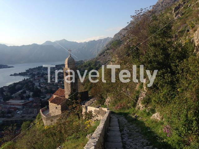 Our Lady of Health church in Kotor bay, Montenegro.