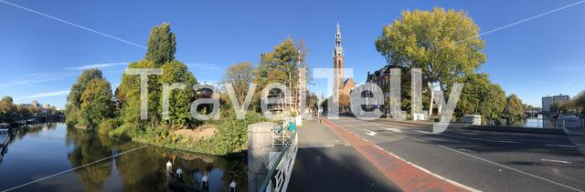 Panorama from Groningen in The Netherlands