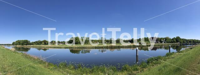 Panoramic landscape around Laag-Keppel in Gelderland, The Netherlands