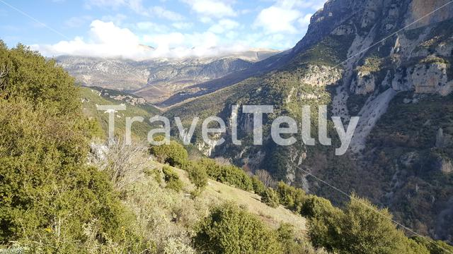 The Vikos Gorge in the Pindus Mountains of northern Greece