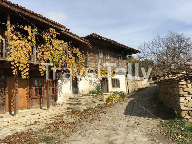 Beautiful old houses in the village Zheravna of Bulgaria