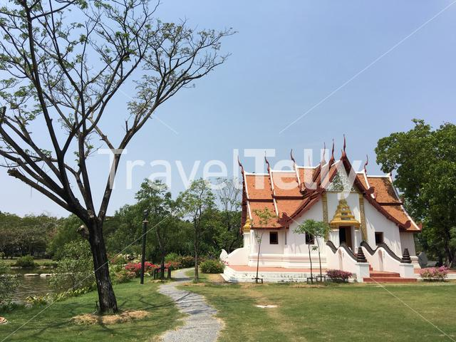 The Mondop Housing the standing Footprints of the lord Buddha, Uttaradit in Ancient Siam Bangkok Thailand