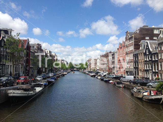 Prinsengracht in Amsterdam Holland The Netherlands