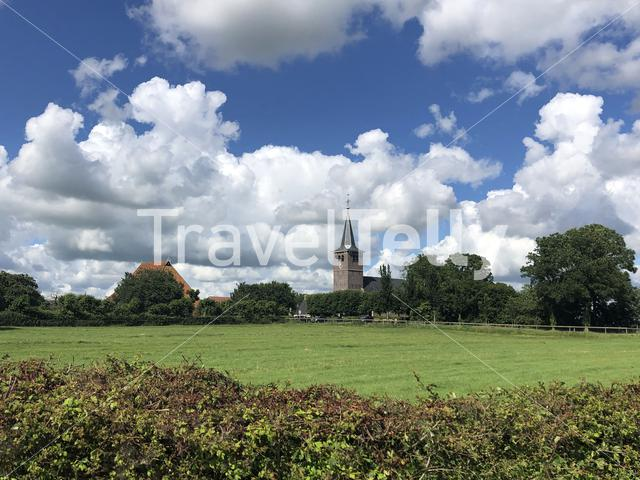 Village Blessum in Friesland The Netherlands