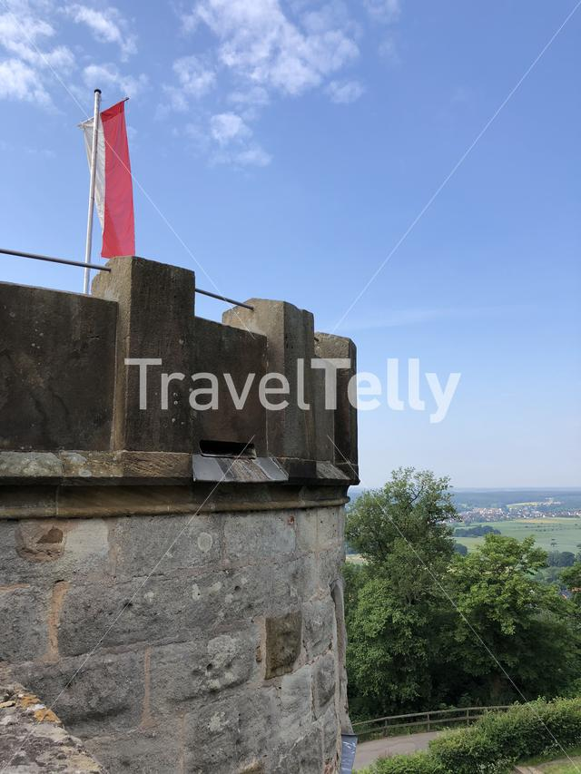 Tower of the Altenburg Castle in Bamberg Germany
