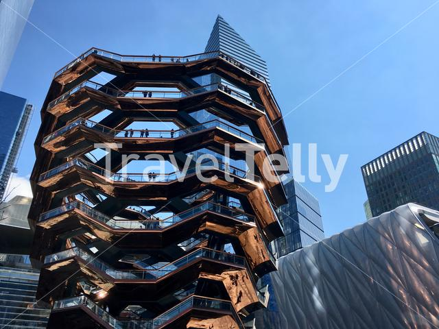 The Vessel structure at Hudson Yards in Manhattan, New York City.