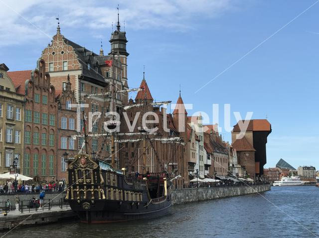 Pirate ship in Gdansk Poland