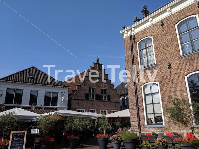 Old town square in Lochum, Gelderland The Netherlands